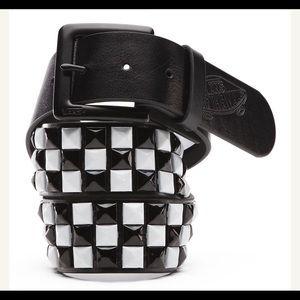 Vans Studded PU Leather Belt size L